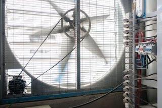 Внутри, непрекращающийся громкий шум от тысяч кулеров устройств, а также — от больших промышленных вентиляторов, встроенных в стены