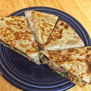 vegan quesadilla, recipe, hummus quesadilla, vegan recipes, quesadilla recipe, quesadilla, dairy free quesadilla, recipe thursday, jaime messina