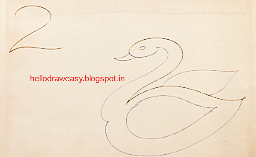 How To Draw A Swan For Kids Step By Step Drawing Lessons For Kids