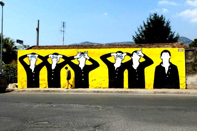 Street Artist MP5 At Work In Terracina For Memorie Urbane