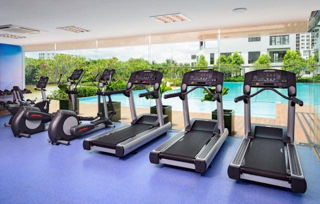 Phòng tập Gym dự án River Park hiện đại