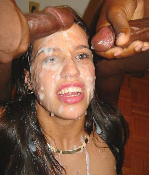 dried up cum on face
