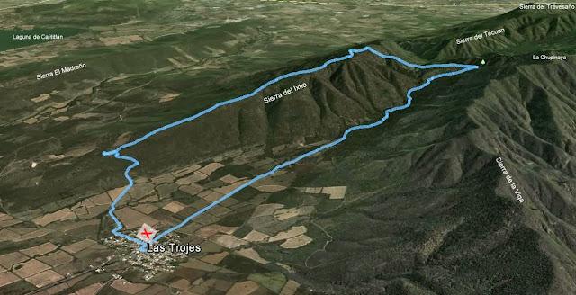 Ruta Las Trojes - Arroyo Zarco - Sierra dle Ixtle
