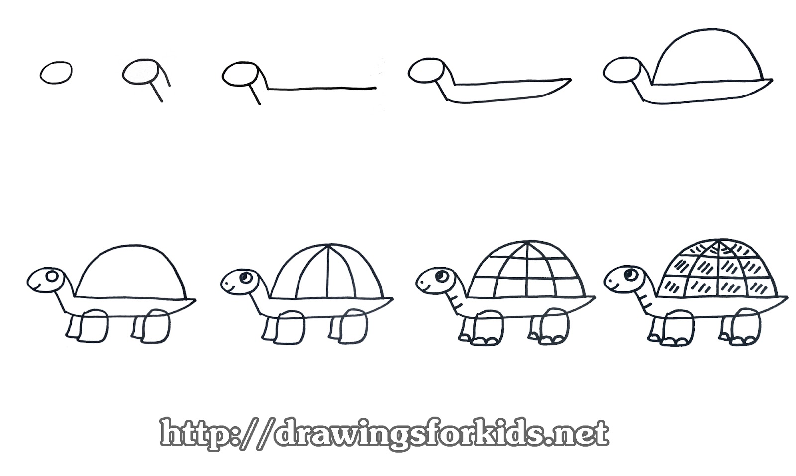 how to draw a turtle for kids drawingsforkids net