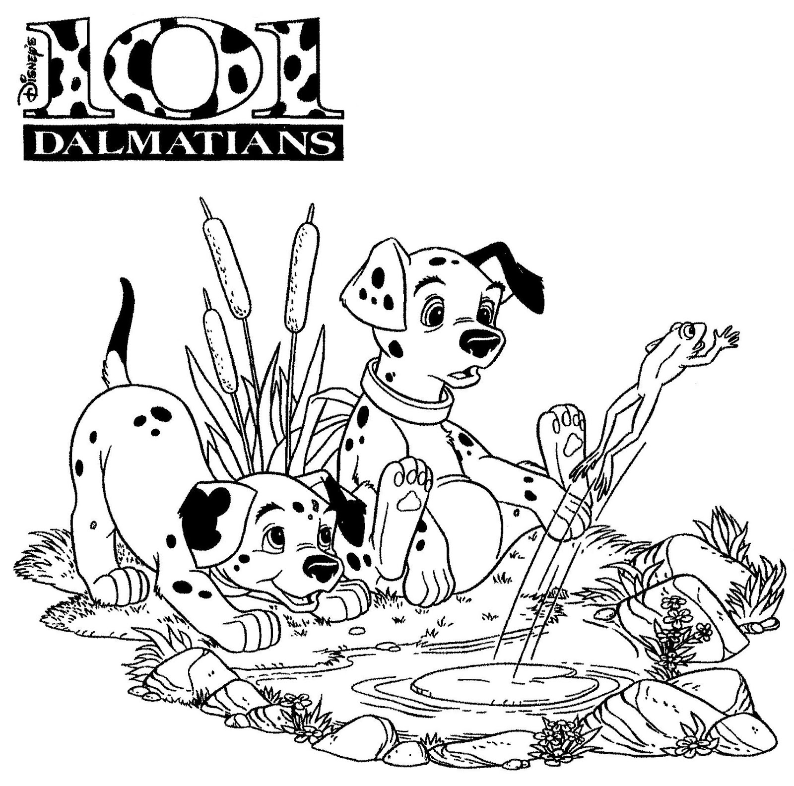 free101 dalmation coloring pages - photo#49
