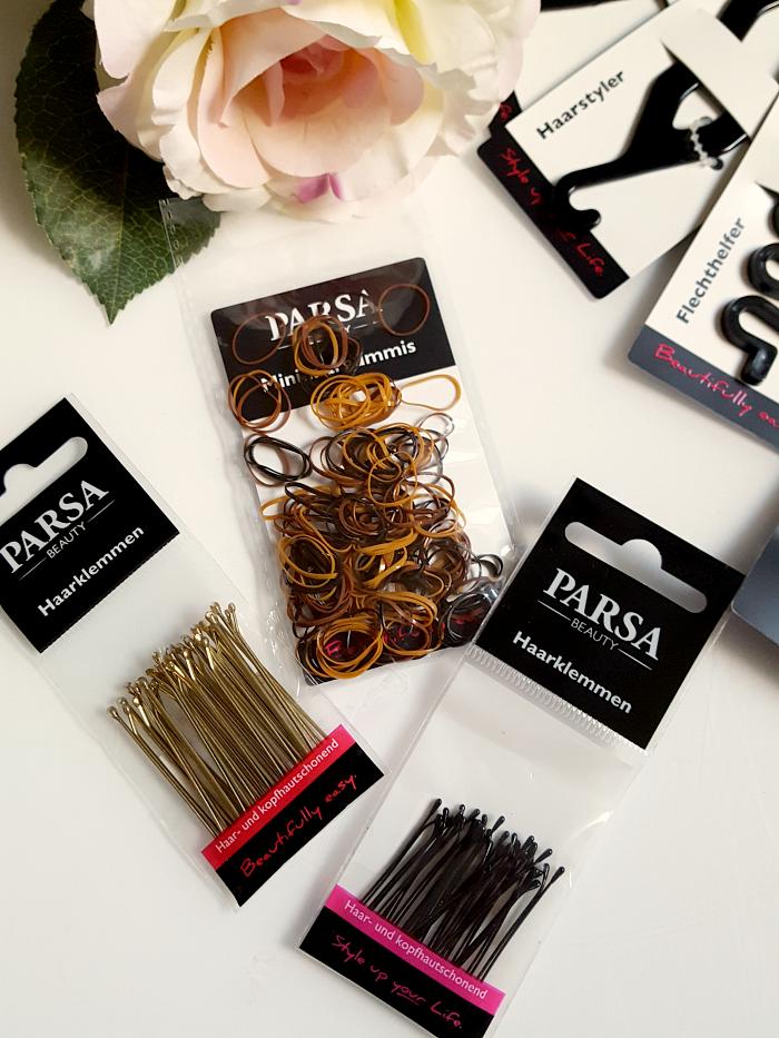 Parsa Beauty rutschfeste Mini-Haargummis & Haarklemmen
