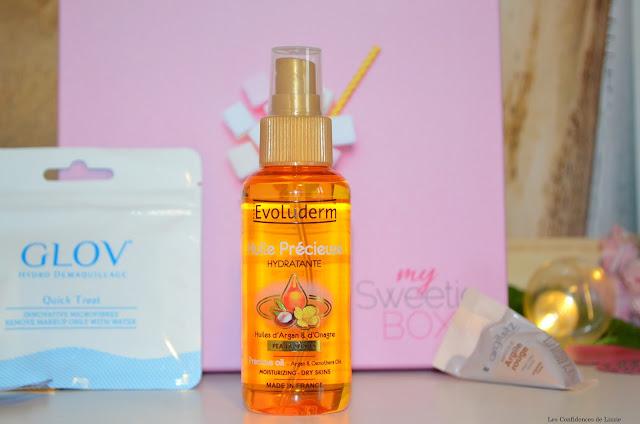 box - box beauté - cosmétiques - huile - huile pour le corps - Evoluderm