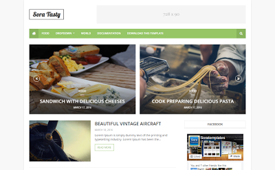 Sora-Tasty-Blogger-Template