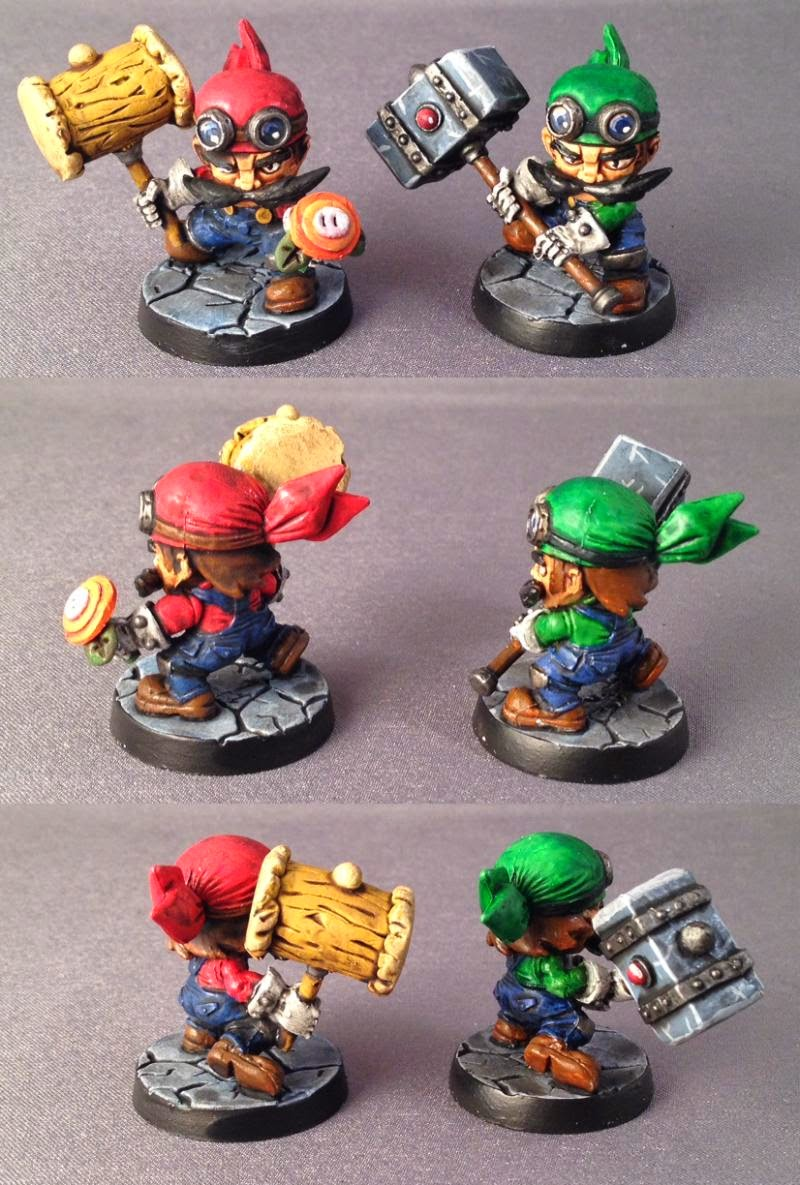 conversion-Luigi, Mario, Sde, Sodapop Miniatures, Super Dungeon Explore