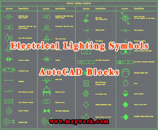 AutoCAD Lighting Symbols Free Download - DWG Blocks