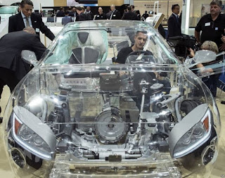 World first transparent car