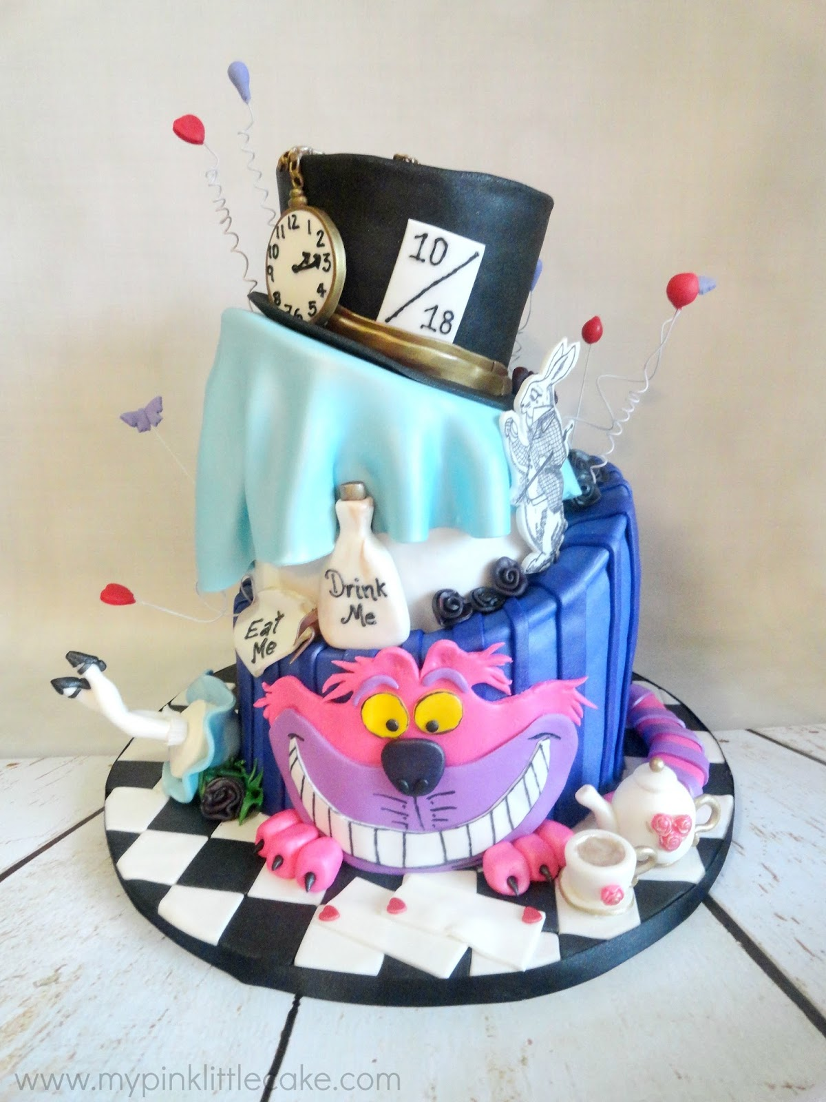 My Pink Little Cake Alice in Wonderland Bridal Shower Cake