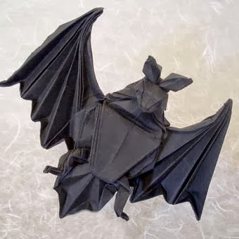 Heres An Excellent Origami Bat Folded From A Single Square Of Paper The Pattern For Piece Was Created By Published