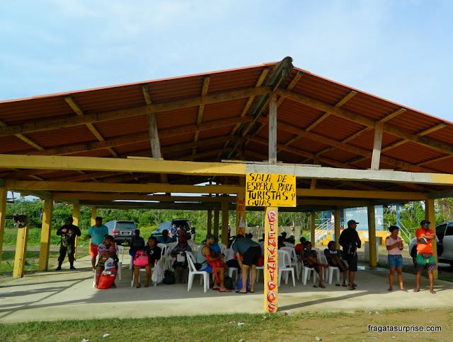 Porto Kuna que dá acesso às ilhas do Arquipélago de San Blas, Panamá