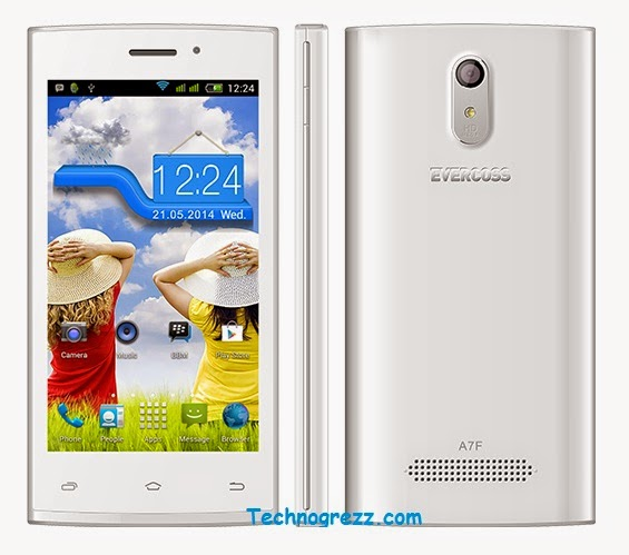 Harga Spesifikasi Evercoss A7F, Smartphone Android KitKat Murah