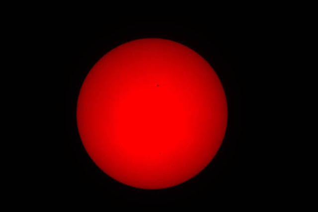 First attempt at getting hydrogen alpha image of the sun (Source: Palmia Observatory)