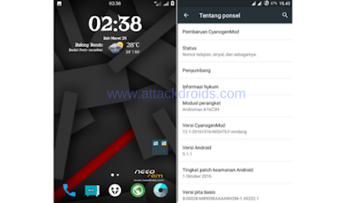 Custom ROM CM 12.1 Nightly Rendang For Andromax A