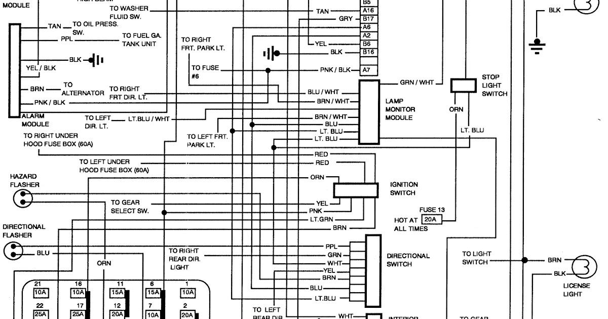 Diagram  1992 Pontiac Bonneville Wiring Diagram Full