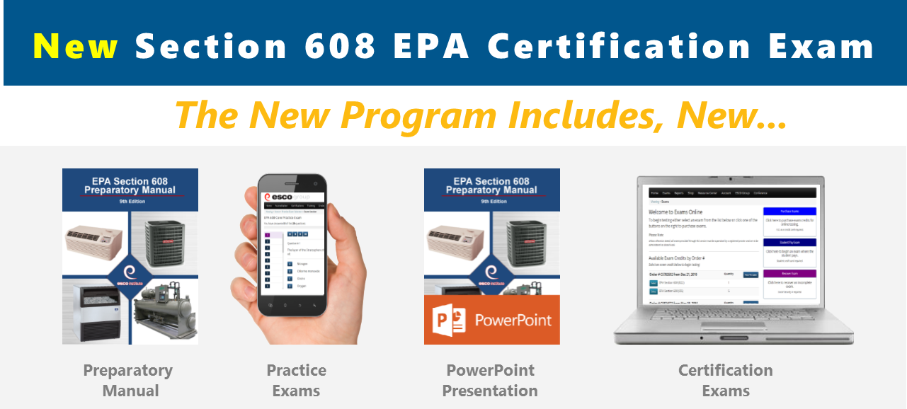 New Epa Section 608 Certification Program Esco Group