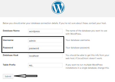 Wordpress Offline Installation Step 7