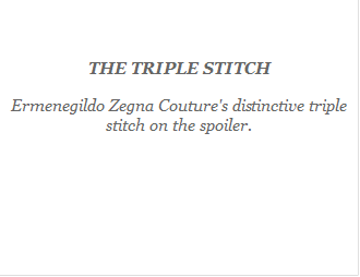 1. Ermenegildo Zegna : The Triple Stitch