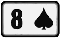 eight of spades playing card