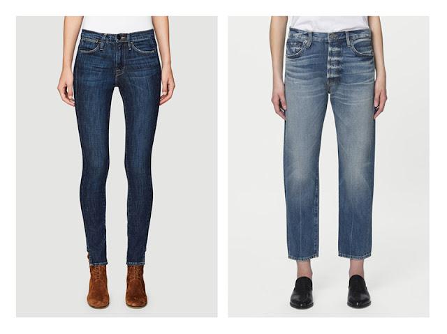 Обтягивающие и свободные джинсы на очень худой девушке