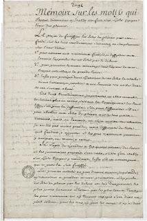AGUITON, Étienne - Mémoire sur les motifs qui peuvent déterminer à établir un fort sur l'isle Cigogne, l'une des Glénans. Ms., 1754 [coll. BnF]