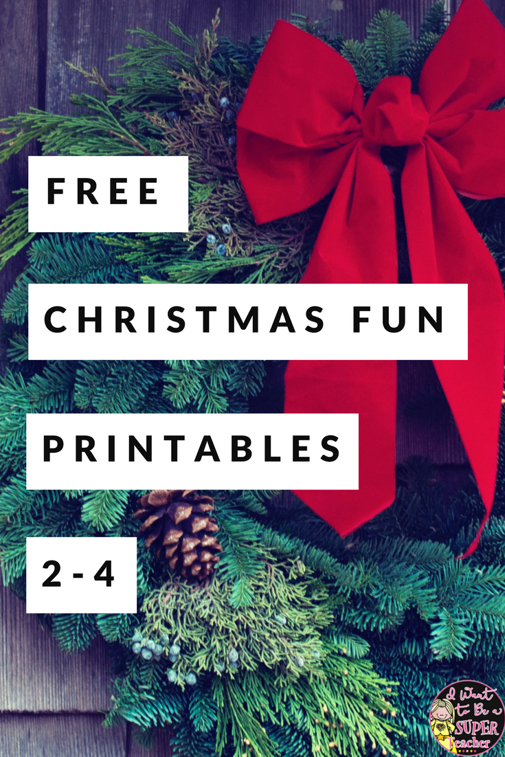 small resolution of December Fun Freebies to Help Calm the Chaos - I Want to be a Super Teacher