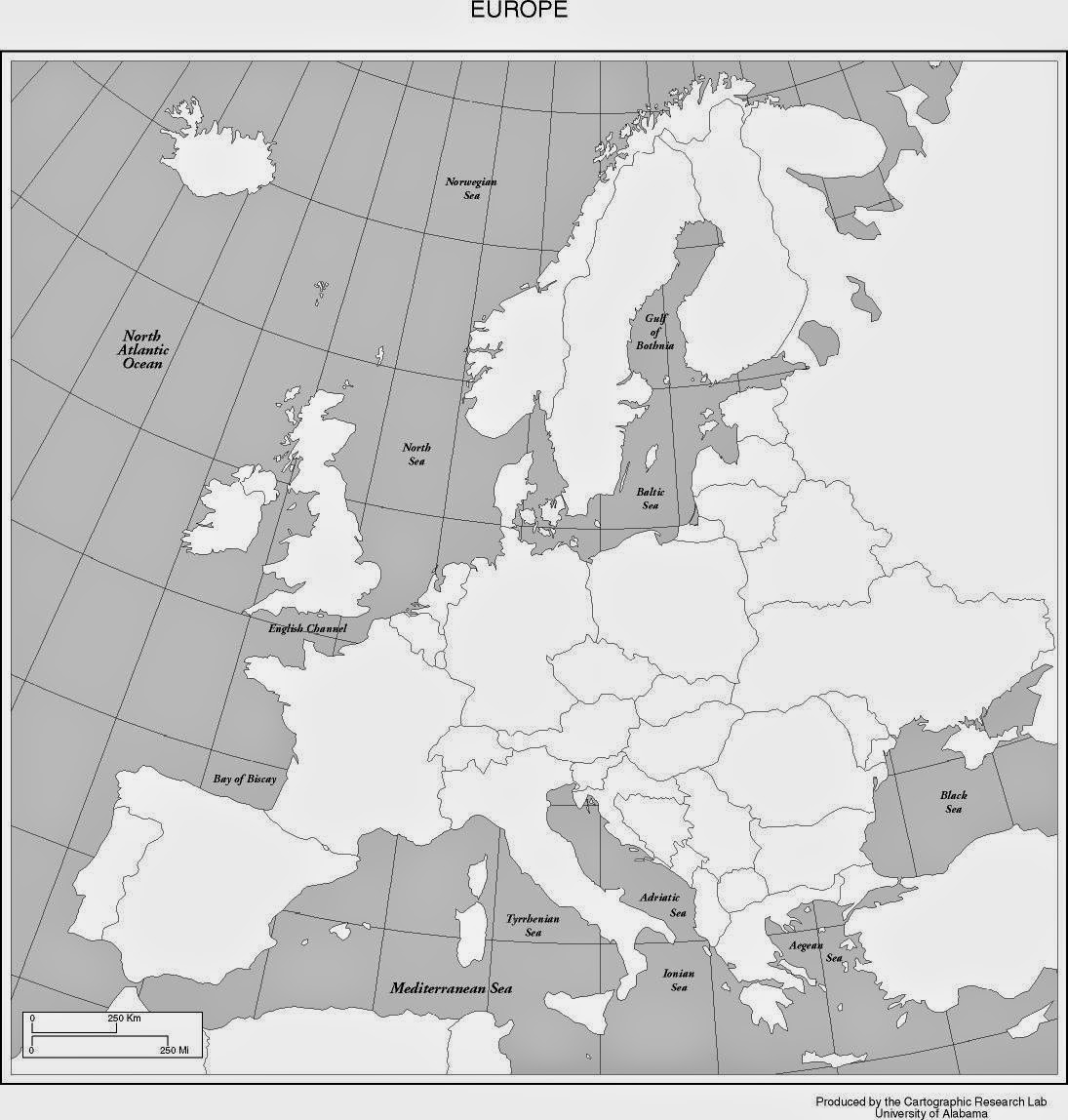 Blank Map 5 Europe Location Knowledge