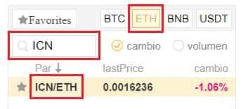Comprar y Guardar Iconomi (ICN) Coin en Binance y Coinbase
