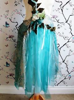 Ragged ribbon layer skirt for boho faerie dress by Karen Vallerius