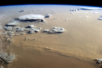 Dust and Clouds seen over Sahara Desert from the International Space Station