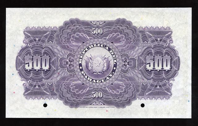 Billetes Paraguay quinientos Pesos