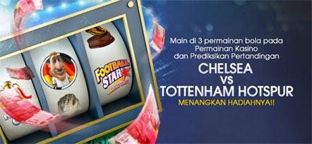Bonus Freebet Chelsea VS Tottenham Hotspur 3 Desember 2014