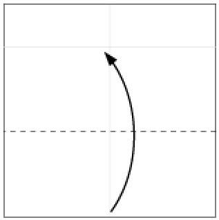 Bước 3: Gấp tờ giấy lên trên