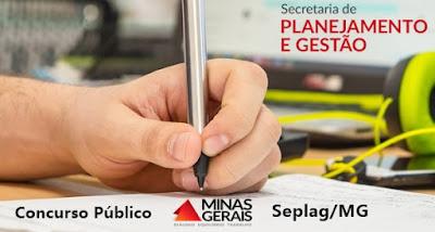 Publicado edital de concurso Seplag-MG para Especialista em Políticas Públicas
