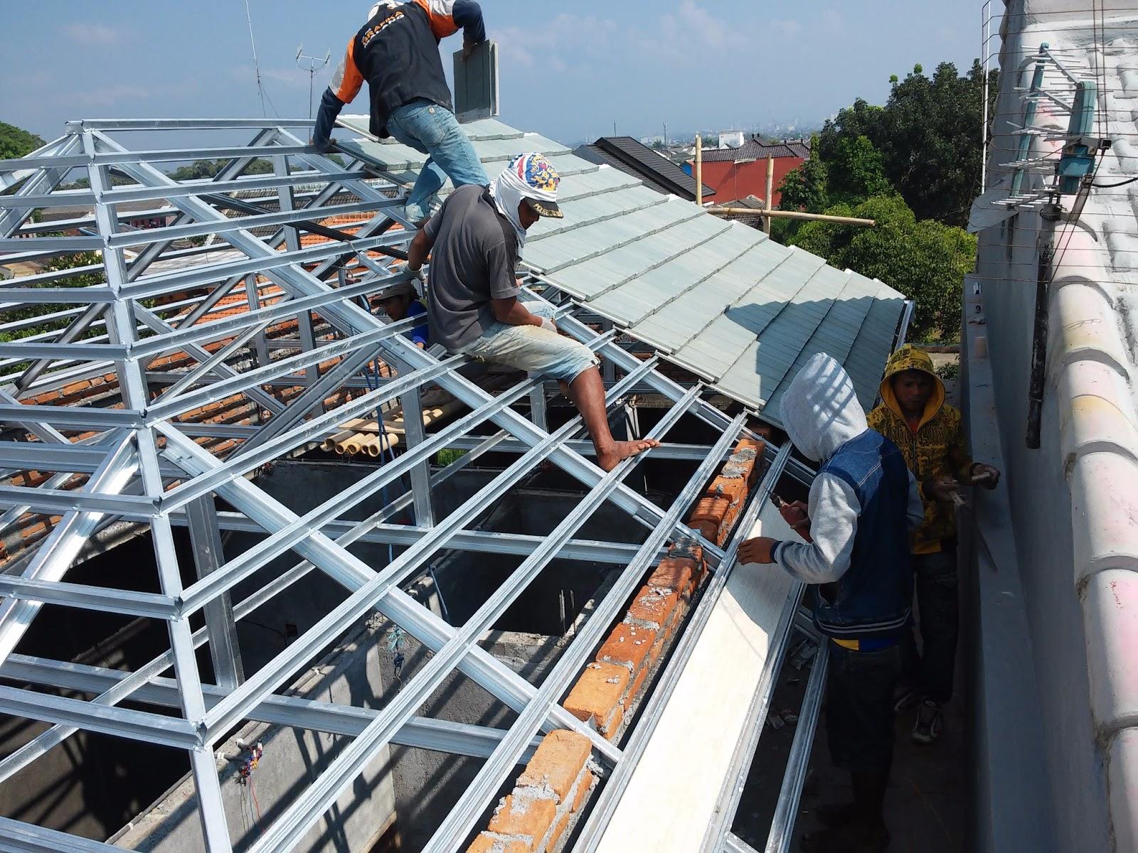 menghitung kebutuhan baja ringan atap jurai cara rangka bengkel las