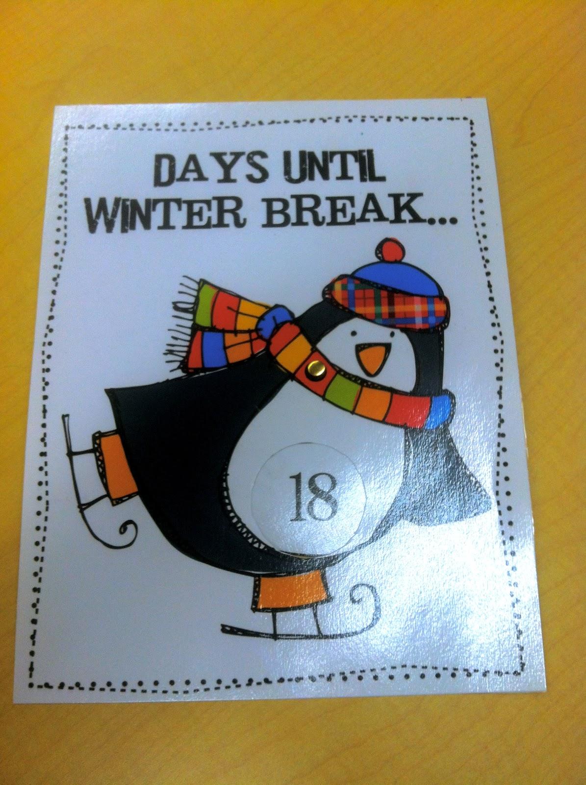 kindergarten fever  countdown until winter break freebie