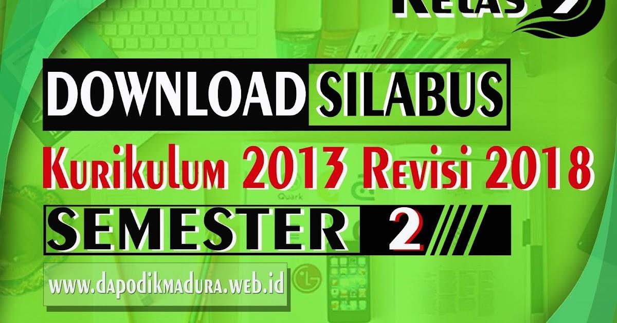Edisi Revisi 2018 Silabus Kelas Iii Semester 2 Sd Mi Kurikulum 2013 Lengkap Dapodik Indonesia