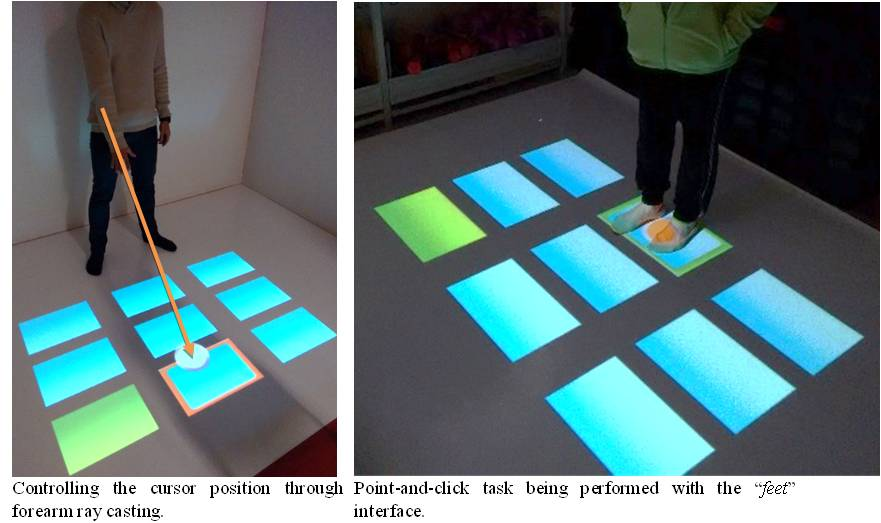 Evaluating Body Tracking Interaction in Floor Projection