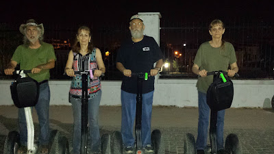 The four of us on our Segways. It's easy!