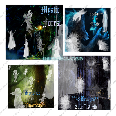 Mystic Forest - Creatures of the Night-Brushes for Photoshop, Photoshop Brushes, Photoshop Stuff