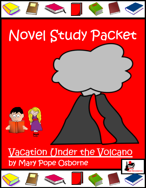 Free for 4 days only! 4,000 follower giveaway at Raki's Rad Resources! - Novel study for Vacation under a Volcano.