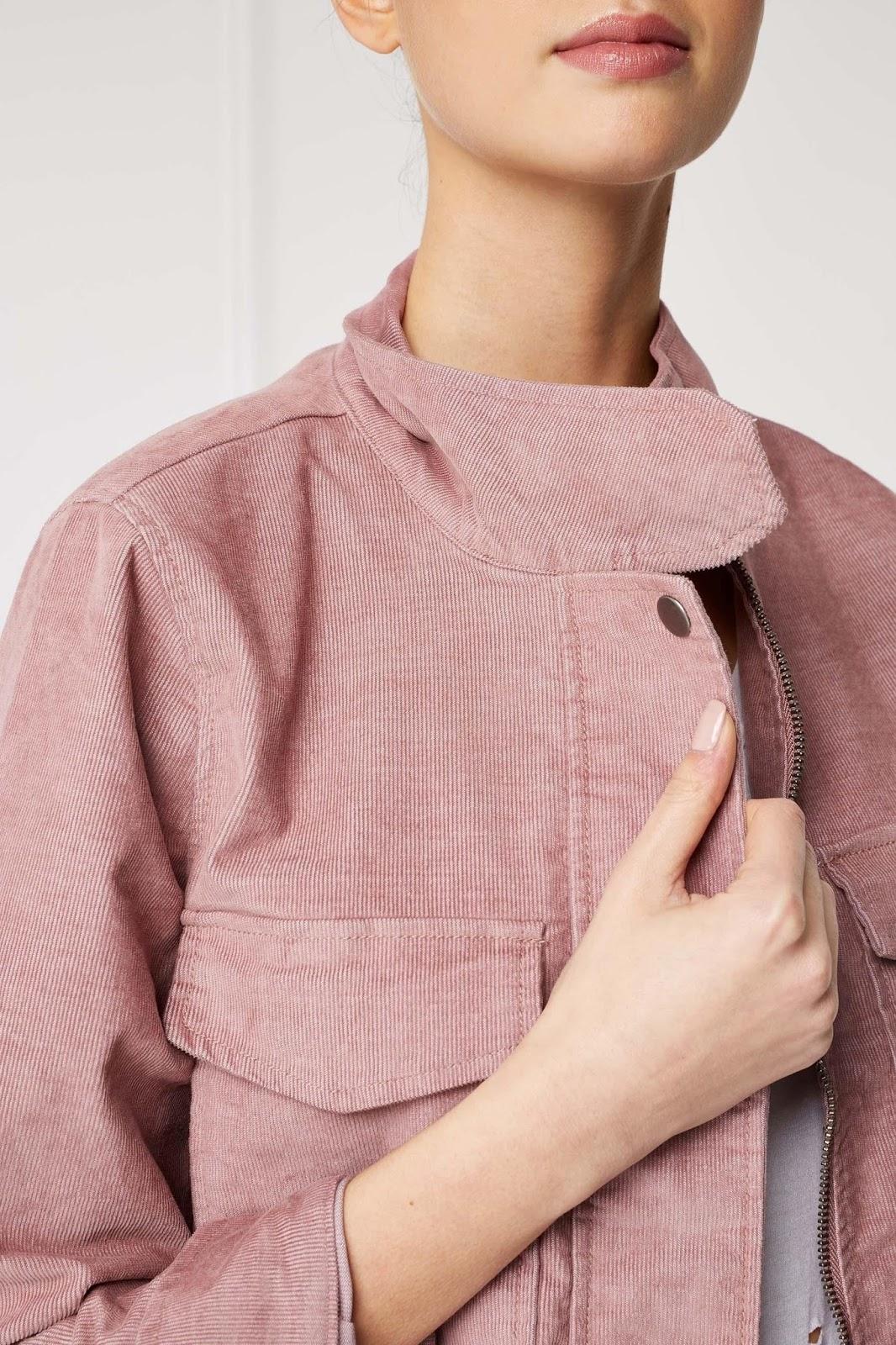 Pink cord jacket next