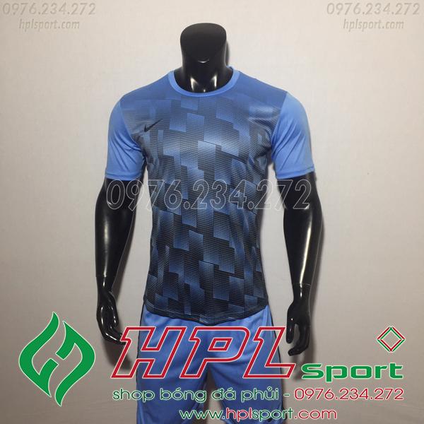 Áo bóng đá không logo Nike HHP David màu xanh nhạt