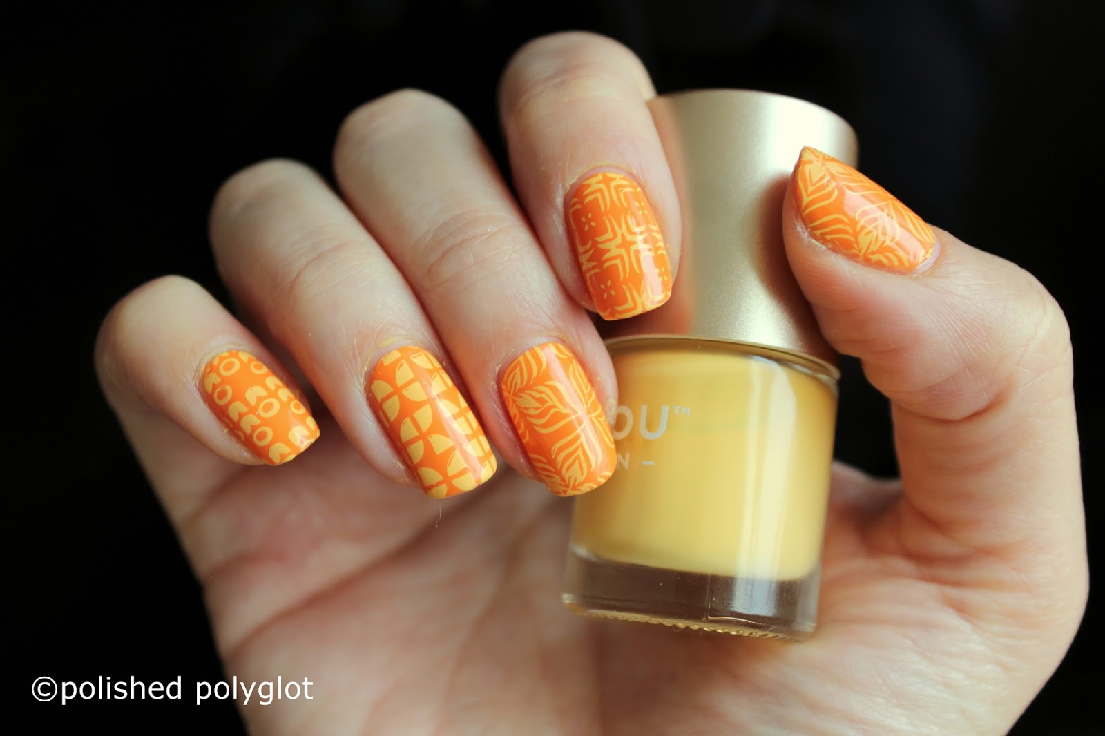 Nail art yellow and orange retro patterns 26gnai polished this nail art is so simple that it can be done in only 5 minutes i have first painted my nails with opi no tan lines from the opi fiji collection for prinsesfo Gallery