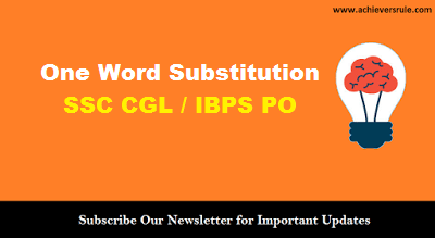 English Grammar: One Word Substitution Lists - 3