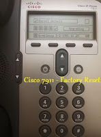 factory reset cisco ip hone 7911
