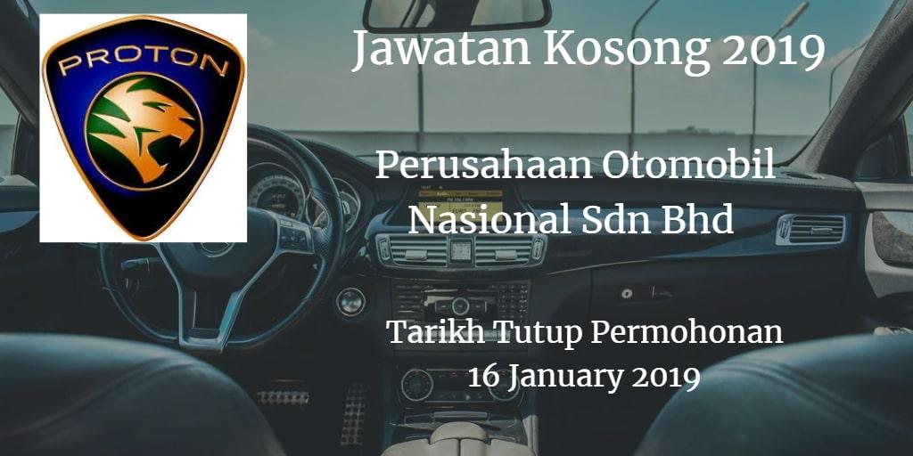 Jawatan Kosong PROTON 16 January 2019